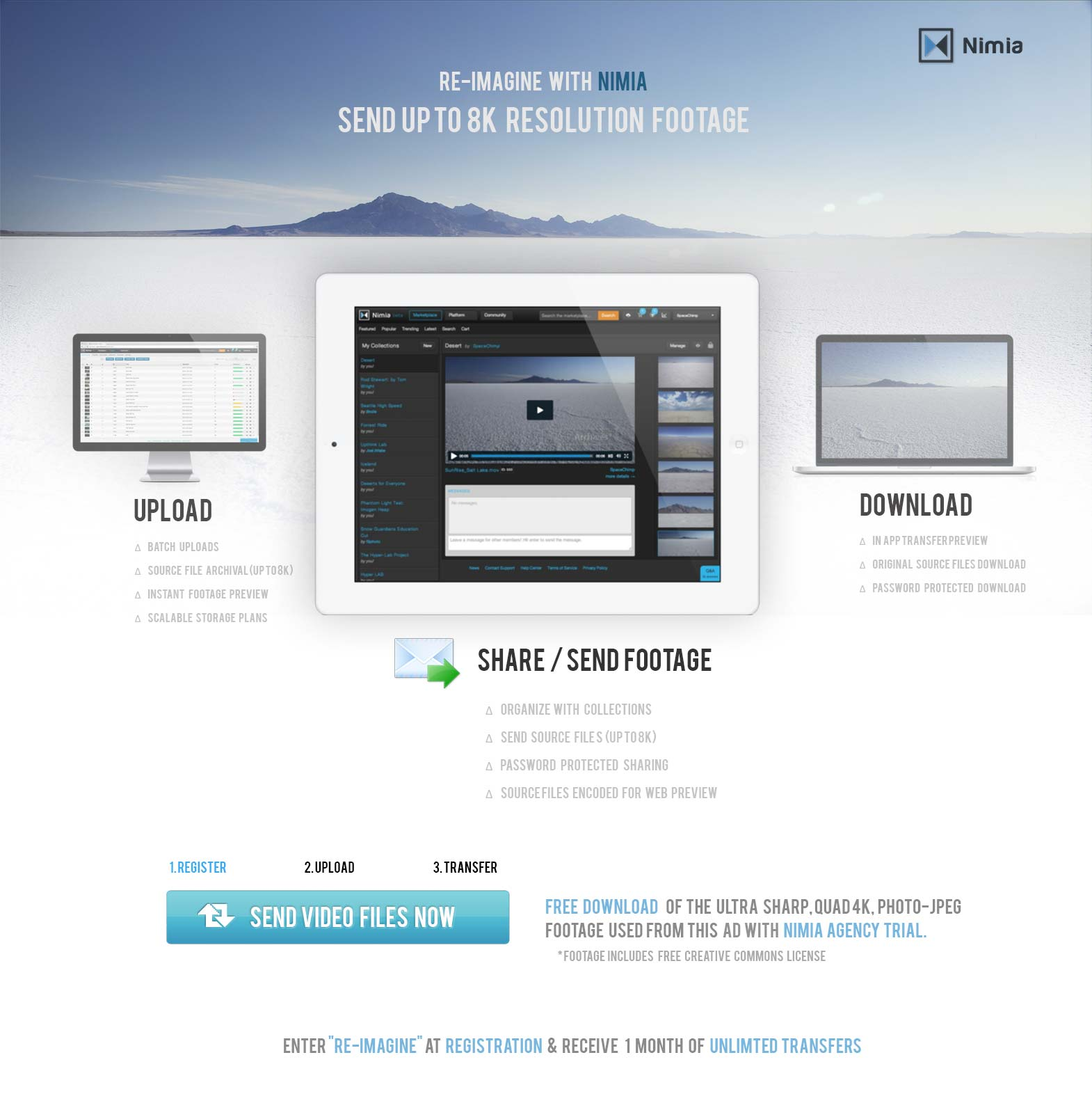 Nimia_Re-imagine_send video_ transfer video