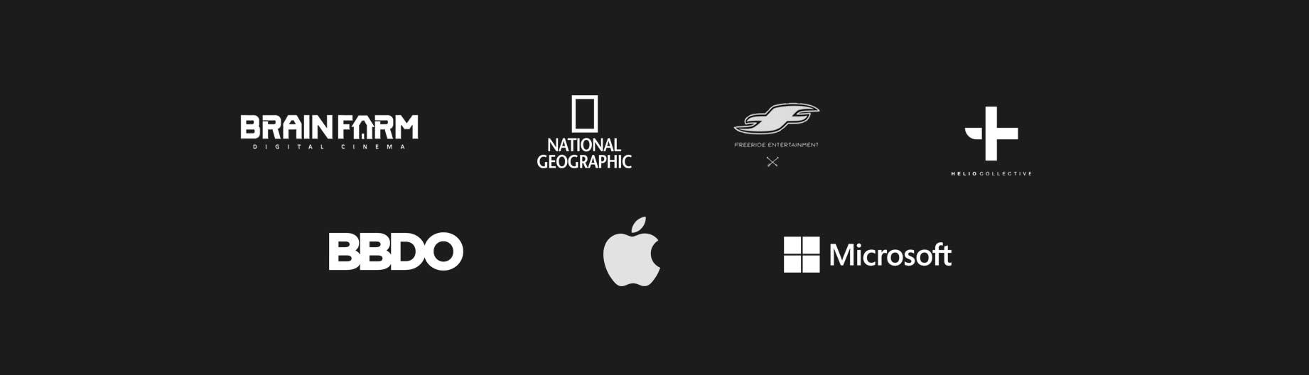 Brain Farm, Nat Geo, Apple, BBDO, Microsoft